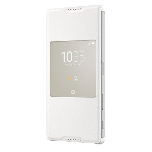 Sony Style Cover mit Fenster SCR42 für das Sony Xperia Z5 - weiß