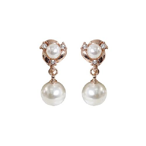 Aidou Pendientes de perlas de imitación vintage pequeños pendientes de perlas simples Joyería para mujeres niñas