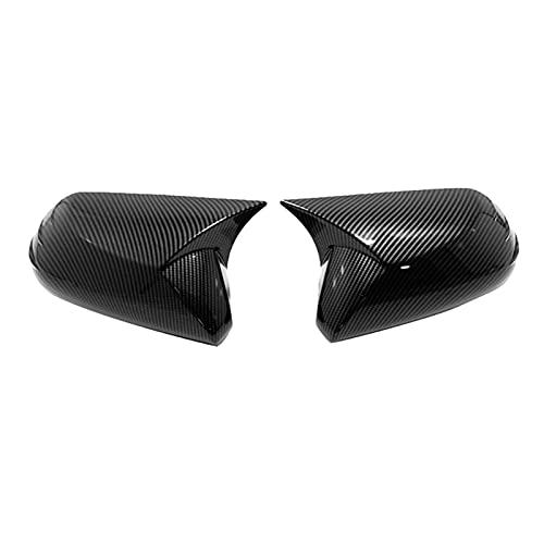 YYAN Cubierta decorativa de espejo retrovisor de fibra de carbono cromado ABS para Toyota Camry 2018-2020, accesorios de estilo de coche (color negro)