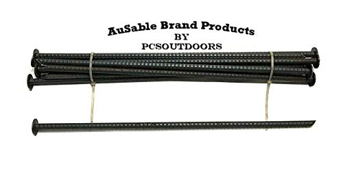AuSable Brand 18' x 1/2' Rebar Anchor Stakes - Landscaping, Camping & Trapping (12 PK.)