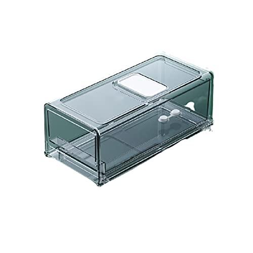 WCY Organizador, Organizador de Almacenamiento Transparente Premium, Encargado del Organizador de La Cocina del Refrigerador Apilable, con Bandeja de,A-A