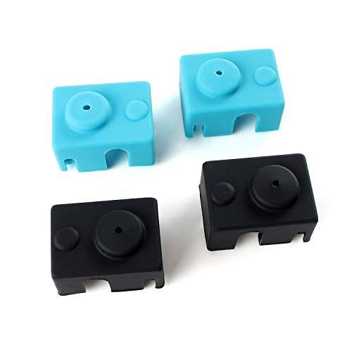 Toaiot - Accessori per stampante 3D in silicone per Reprap Prusa i3 MakerBot con blocco riscaldante PT100/V6 Pro, custodia in silicone J-Heat V6, estrusore Hotend non ufficiale, 4 pezzi