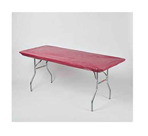 Kwik Covers 30' x 96' Maroon Fitted Table Cover - single
