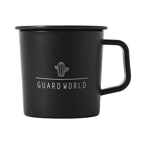 250ml Zwart Wit Mokken Cup Thee Melk Koffie Bekers Met Handgreep deksel Thuis Kantoor School Water Fles Cup Makkelijk mee te nemen
