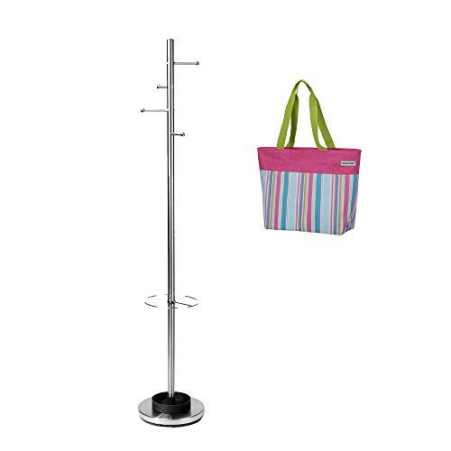 Reisenthel Garderobe aus Edelstahl mit 4 Haken und Schirmständer - DX1017 Promo