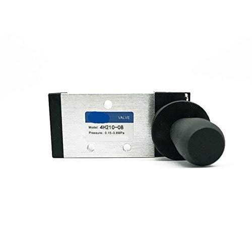 Wnuanjun 1pc neumático Interruptor Manual de la Placa de la válvula 4H210-08 Mano Interruptor de inversión válvula del Cilindro de válvula mecánica válvula de Control neumática (tamaño : 4H410 15)
