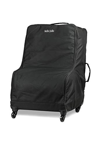 Hello Jolie Car Seat Travel Bag with 4 Wheels | Includes Bonus Add A Bag Luggage Strap | All Around Padding for Maximum Protection | Water Resistant
