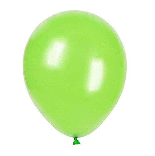 100 Piezas 12 (30 CM) Globos Pearlised Metálico Aire o Helio Boda Cumpleaños Fiesta de Navidad Decoración Disponible en 14 Colores (Primavera Verde)