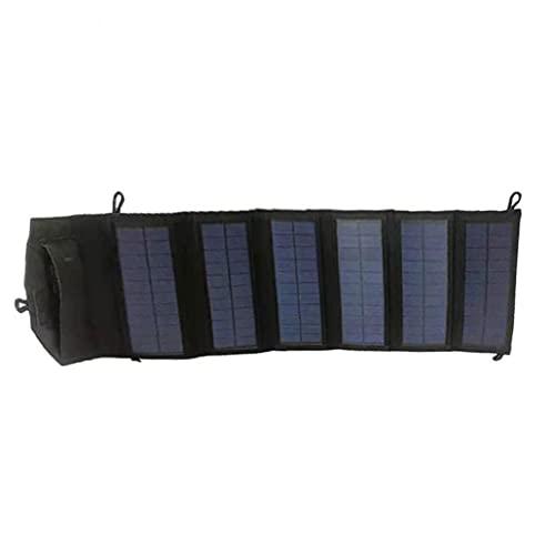 Panneau solaire portable pliingmaterial: silicium polycristallin,USB de 20W,résistant à l'eau pour endurer toutes les conditions météorologiques,accessoires quotidiens noirs