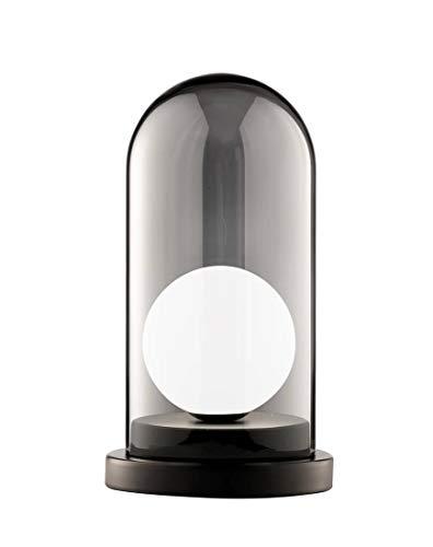 Spetebo Grays - Lámpara de mesa (1 bombilla, 33,5 x 18 x 18 cm), color negro
