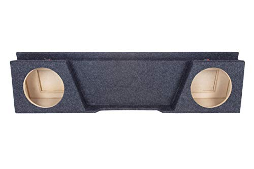 """Bbox A142-10CP Dual 10"""" Sealed Carpeted Subwoofer Enclosure - Fits 2007 - 2014 Chevrolet / GMC Silverado / Sierra Extended Cab"""