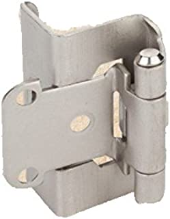 "USA Premium Store Full Wrap Self Closing Cabinet Hinge Satin Nickel 1/2"" Overlay 3/4"" Frame hs541 (50)"