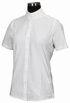 TuffRider Girl's Starter Short Sleeve Show Shirt, White, 14 from JPC Equestrian - Sporting Goods