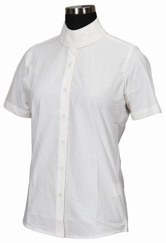 TuffRider Girl's Starter Short Sleeve Show Shirt, White, 14