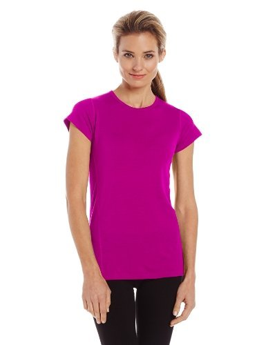 Minus33 Merino Wool Women's Appalachia Lightweight Short Sleeve Crew, Radiant Violet, Large by Minus33 Merino Wool