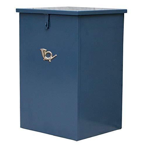 SEMI-SS 宅配ボックス (グレイッシュブルー) 据え置き 一戸建て用 南京錠付き SS-DSTK420