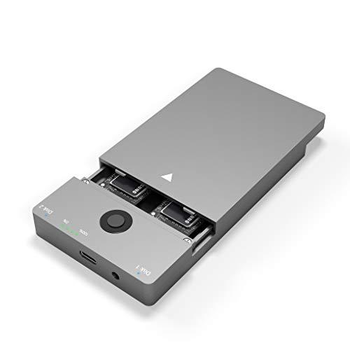 Rytaki Bases de conexión para SSD M.2 PCIe NVME SSD, USB Tipo C 3.1 Gen2, Carcasa de Unidad de Estado sólido Compatible con función de clon duplicador sin conexión USB 3.1 Gen 2 con hasta 10 Gbps