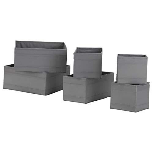 IKEA SKUBB Box, 6er-Set, grau Aufbewahrung Fach NEU