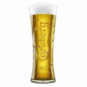 Carlsberg Biergläser (Set von 6) Plus 6Bierdeckel