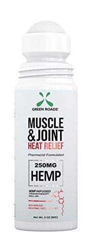 Green Roads Muscle and Joint Heat Relief Roll-On - 3 oz, 250mg