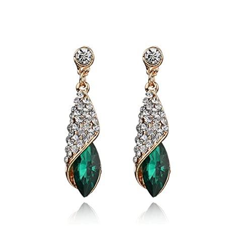 Pendientes y pendientes de diamantes con incrustaciones de gota de agua