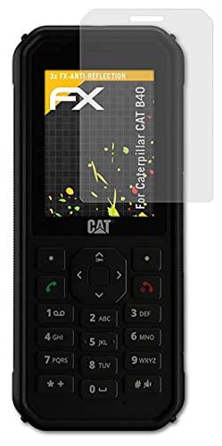 atFolix Panzerfolie kompatibel mit Caterpillar CAT B40 Schutzfolie, entspiegelnde & stoßdämpfende FX Folie (3X)