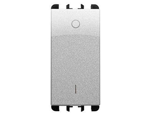 URMET SIMON NEA 10162AL - Interruptor bipolar de aluminio, 16 A