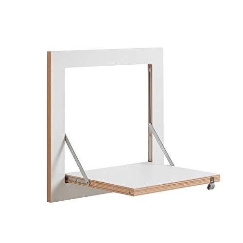 Ambivalenz Fläpps Regal 40x40, weiß Kante Holz lackiert BxHxT 40x40x31cm klappbar
