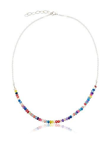 Córdoba Jewels | Gargantilla en Plata de Ley 925 y Piedra semipreciosa. Diseño Spring Colors