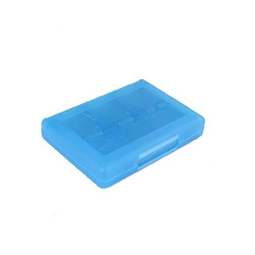OMMO LEBEINDR 28 en 1 Juego Tarjeta Caja Cuadro Titular Cartucho para Nintendo 3DS Juegos Vedio (Azul) por Conveniencia