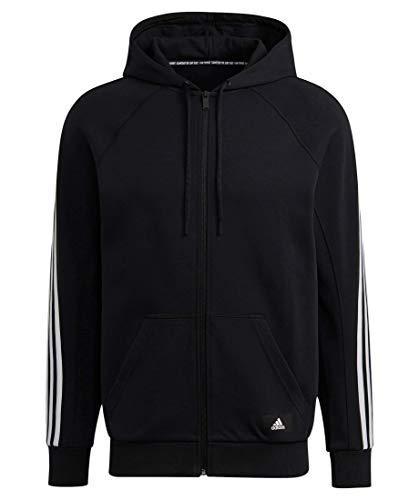 adidas GM6450 M FI FZ Hood Sweat Mens Black M