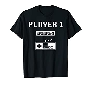 Player 1 Player 2 ready player 3 loading.. pregnancy retro T-Shirt