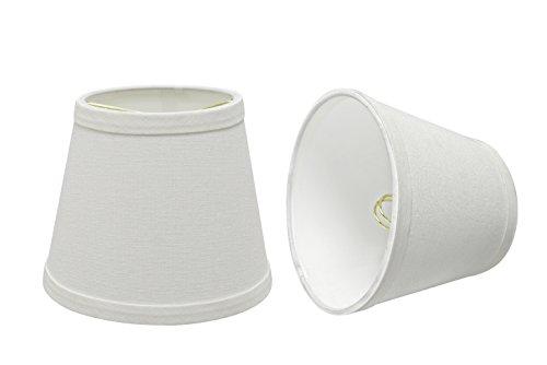 Aspen Creative 32862-2 Small Hardback Empire Shape Chandelier Clip-On Lamp Shade Set (2 Pack), Transitional Design in White, 5