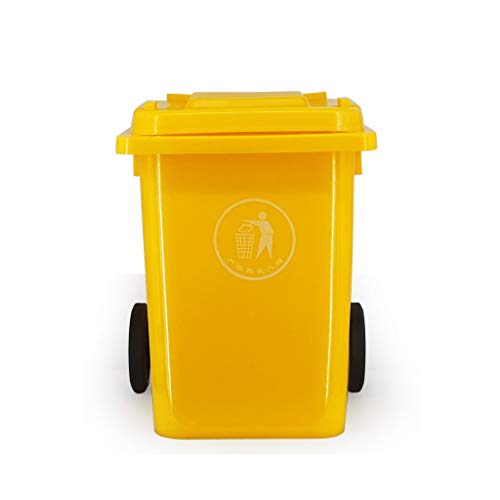 Fantastic Deal! WQEYMX Outdoor Trash can 80L Plastic Trash can Outdoor Trash can with Pulley Removab...
