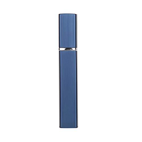 LASISZ 1pcs 6 Color Metal Case Glass Tank 12ml Perfume Bottle Aluminum Nozzle Spray Refillable Bottle Parfum Cosmetic Glass Container,Light Blue,12ml