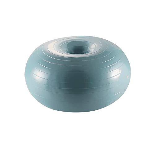 Sdesign Ejercicio Dona Entrenamiento de la Bola de la Yoga núcleo de Pelota de Estabilidad Formación for el Entrenamiento del Equilibrio Yoga Pilates con la Bomba Inflable (Color : Blue)