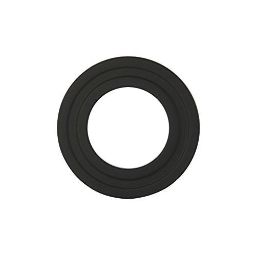 Kamino - Flam – Rosetón para tubo de chimenea, Acero rosetón conector para sistema de chimeneas, estufas, ventilaciones, Negro, Ø 100 mm