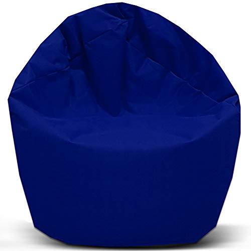 Sitzsack 2 in 1 Funktion mit Füllung Bag Sitzkissen Bodenkissen Kissen Sessel Sofa (100cm Durchmesser, Blau) - 2