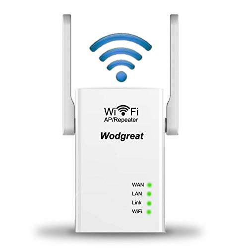 WiFi Extender, Wireless Signal Booster Repeater, Wodgreat Wi-Fi Superboost, Wifiblast with High Gain Antennas, Full Coverage & Easy Setup | 300Mbps, 2.4GHz | 2020 New Model