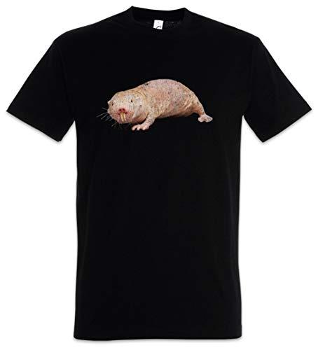 Urban Backwoods Naked Mole Rat Herren T-Shirt Schwarz Größe M