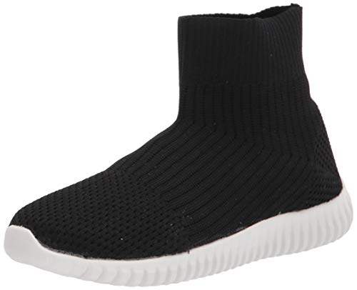 Dirty Laundry womens Knit Sock Sneaker, Black, 8 US