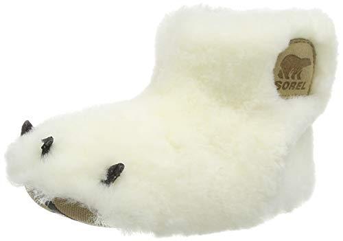 Sorel Unisex Kinder Toddler Bear Paw Slipper Hausschuhe, Blanco (Sea Salt/Beach), 24 EU