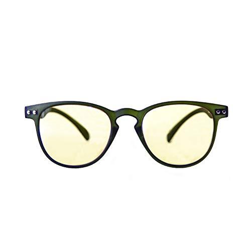 KURA Lens – Gafas para Ordenador, TV, Tablet, Gaming, Confort visual, contra el cansancio Ocular, montura ligera, luz azul reducida 49% y UV 100%