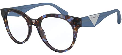 Emporio Armani Damen 0EA3160 Sonnenbrille, Blue Havana, 52