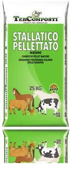 Tercomposti CONCIME Pellet BIO STALLATICO Organico AMMENDANTE Naturale MATURO 25 kg