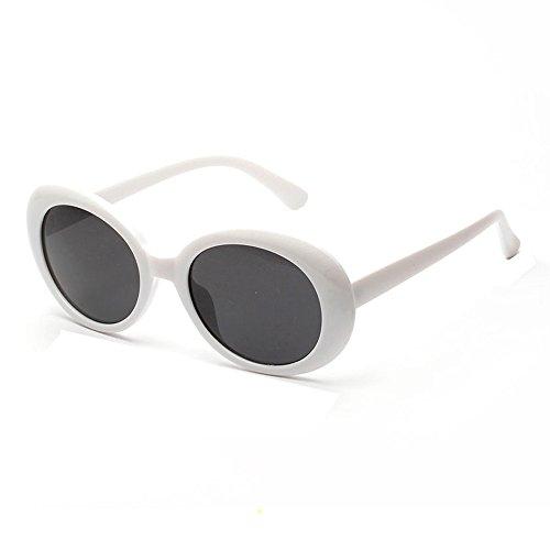 Topgrowth Occhiali da Sole Unisex Uomo Donna Retro Vintage Cornice Rotonda Occhiali UV Sunglasses (Bianca)