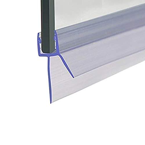 Cozylkx Frameless Shower Door Bottom Seal with Drip Rail 3/8' Thick Glass 27.5' Long Sweep - Glass Door Seal Strip Stop Shower Leaks