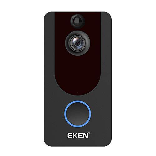家庭用品 Timbre inalámbrico WiFi Smart Visual 1080P, Videoportero con visión Nocturna, Timbre con Sensor Ojo de Gato, Videovigilancia infrarroja