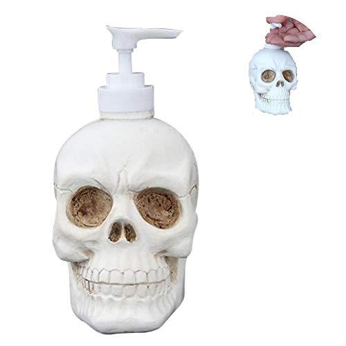 Kylewo Dispensador de jabón de Calavera, dispensador de Botella Dispensador de Gel de Ducha Cráneo para loción/Enjuague bucal/Gel de Ducha/champú