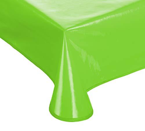 Brandsseller Gartentischdecke Lacktischdecke Tischdecke Hochglanzversiegelt Wetterfest Terrasse Balkon Camping - Größe: 110 x 140 cm Farbe: Hellgrün
